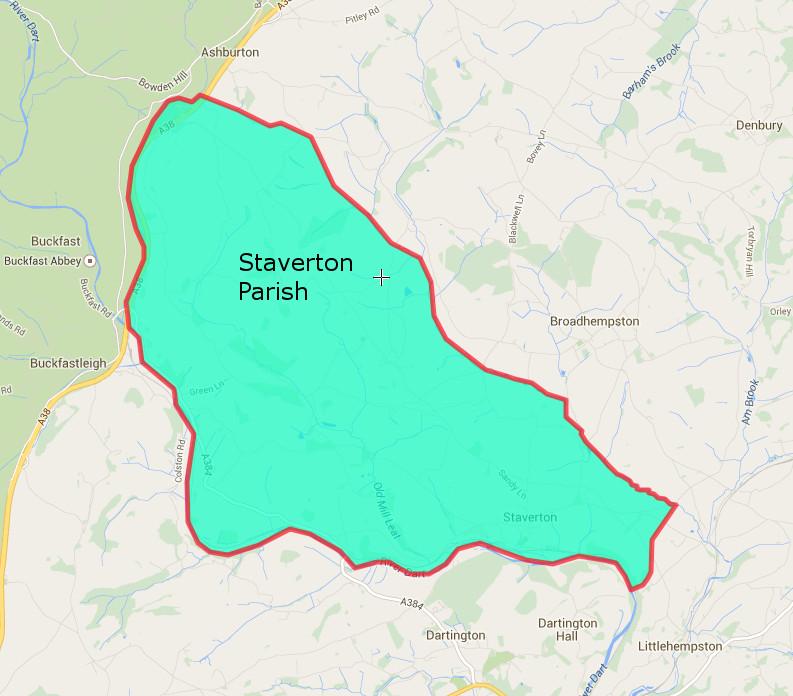 Staverton Parish Map
